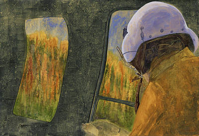 Wildfire Painting - Aerial Recon by Tonja Opperman
