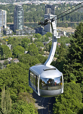 Aerial Tram Portland Or. Print by Gino Rigucci