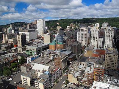 Que Photograph - Aerial View Montreal by Jason O Watson