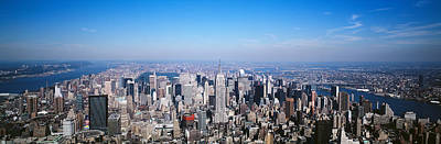 Aerial View, New York City, Nyc, New Print by Panoramic Images