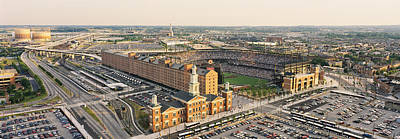 Baltimore Baseball Parks Photograph - Aerial View Of A Baseball Stadium by Panoramic Images