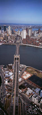 Aerial View Of A Bridge, Brooklyn Print by Panoramic Images