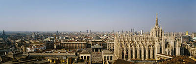 Duomo Photograph - Aerial View Of A Cathedral In A City by Panoramic Images