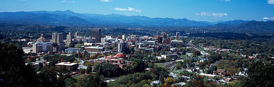Aerial View Of A City, Asheville Print by Panoramic Images
