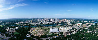 Aerial View Of A City, Austin, Travis Print by Panoramic Images