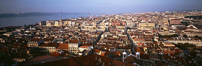 Rooftop Photograph - Aerial View Of A City, Lisbon, Portugal by Panoramic Images