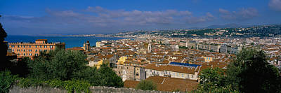 Rooftop Photograph - Aerial View Of A City, Nice, France by Panoramic Images