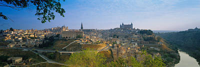 Hilltop Scenes Photograph - Aerial View Of A City, Toledo, Spain by Panoramic Images