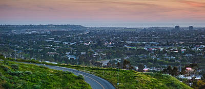 Marina Del Rey Photograph - Aerial View Of A City Viewed by Panoramic Images