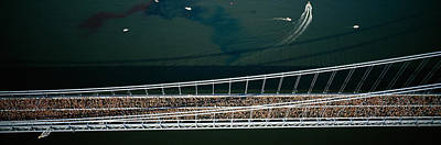 Marathon Photograph - Aerial View Of A Crowd Running by Panoramic Images