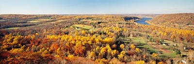 Bucks County Photograph - Aerial View Of A Landscape, Delaware by Panoramic Images