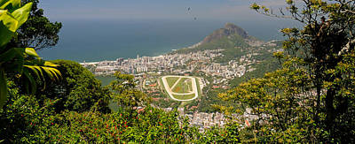 Ipanema Beach Photograph - Aerial View Of A Town On An Island by Panoramic Images