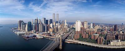 Aerial View Of Brooklyn Bridge Print by Panoramic Images