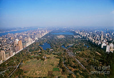 Aerial View Of Central Park Photo Print by .