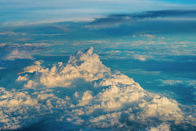 Aerial View Of Clouds, China (large Print by Keren Su