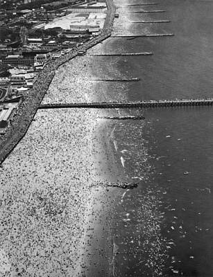 Birds Eye View Photograph - Aerial View Of Coney Island by Underwood Archives