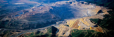 Mining Photograph - Aerial View Of Copper Mines, Utah, Usa by Panoramic Images
