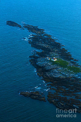 Aerial View Of Egg Rock Lighthouse Print by Diane Diederich