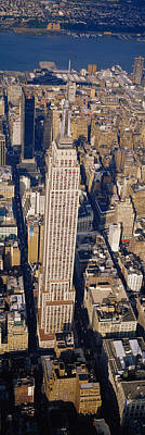 Empire State Photograph - Aerial View Of Empire State Building by Panoramic Images