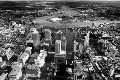 Aerial View Of London 5 Print by Mark Rogan