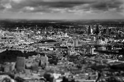 London Photograph - Aerial View Of London 6 by Mark Rogan