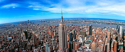 Empire State Photograph - Aerial View Of New York City, New York by Panoramic Images