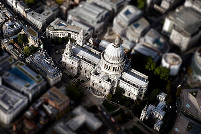 London Skyline Photograph - Aerial View Of St Pauls Cathedral by Mark Rogan