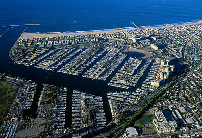 Marina Del Rey Photograph - Aerial View Of The Marina Del Rey, Los by Panoramic Images
