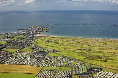 Portrush Photograph - Aerial View Portrush & Royal Portrush by Colin Bailie