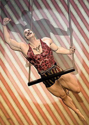 Aerialist Circus Print by Quim Abella