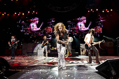 Aerosmith - Austin Texas 2012 Print by Epic Rights