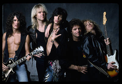 Aerosmith Photograph - Aerosmith - Let The Music Do The Talking 1980s by Epic Rights