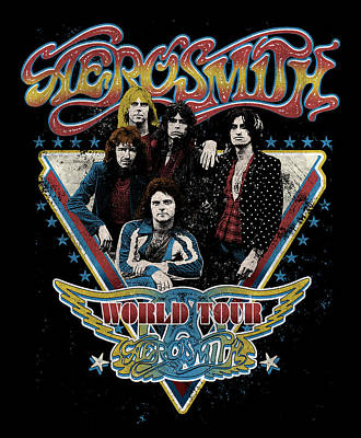 Aerosmith Photograph - Aerosmith - World Tour 1977 by Epic Rights