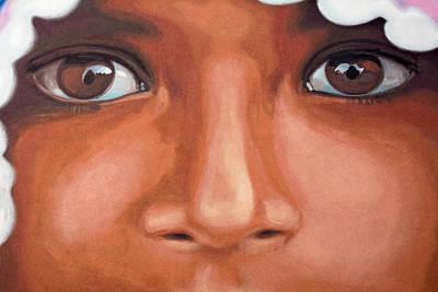 Refugee Girl Painting - Afghan Refugee by Mair Hunt
