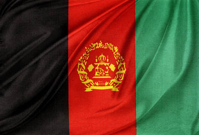 Afghanistan Photograph - Afghanistan Flag by Les Cunliffe