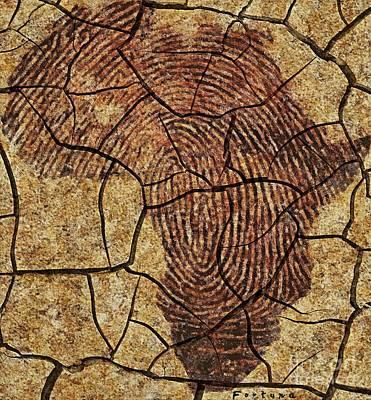 Wall Mixed Media - Africa II - Rock Art by Dragica  Micki Fortuna