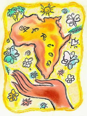Sun Symbol Painting - Africa by Leon Zernitsky