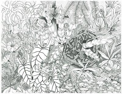 Python Drawing - Africa Watching by Richard Brooks