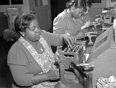 African-american Photograph - African American War Workers by Ann Rosener FSA