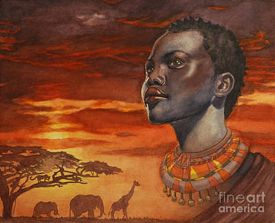 African Dream Print by Isabella Kung