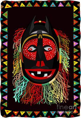 Tassel Digital Art - African Fringed Mask by Oksana Khorkhordina