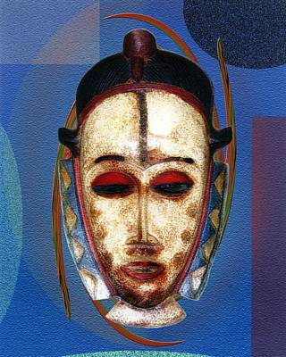 African Mask Print by Terry Boykin