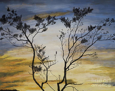 Asheville Artist Painting - African Sunset by Stuart Engel