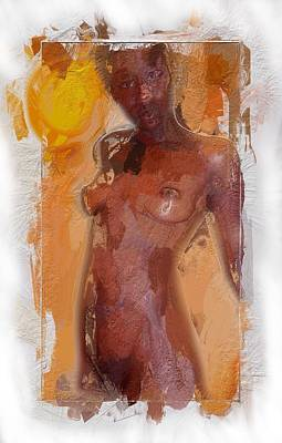 African Erotic Painting - African Woman by Stefan Kuhn