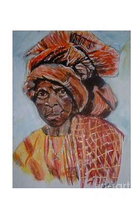 Yoruba Painting - African Women Series Yoruba Woman by JackieO Kelley