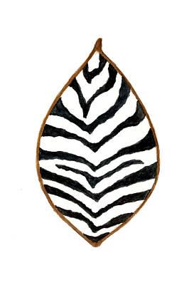 Zebra Painting - African Zebra Skin Shield by Michael Vigliotti