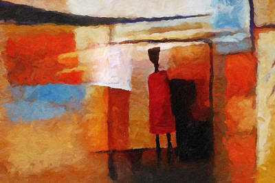 Abstract Impression Painting - Africana by Lutz Baar