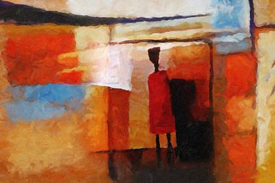 Baar Painting - Africana by Lutz Baar