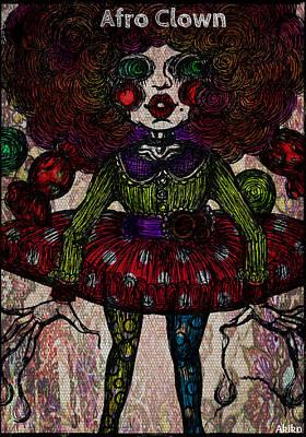 Afro Clown Print by Akiko Kobayashi