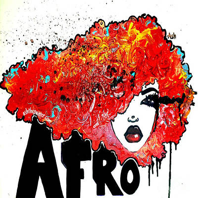 Afrocentric Digital Art - Afro Crush  by Respect the Queen
